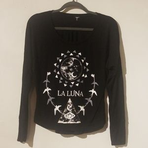 La Luna Witchy Graphic Longsleeve Tee Size M